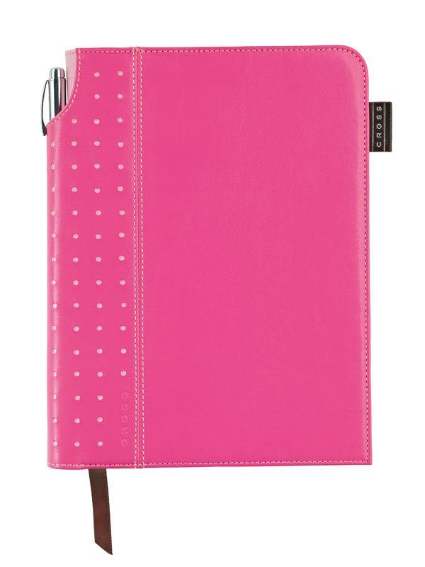 Записная книжка Cross Signature Journal, A5, розовая, c ручкой 3/4,   250 страниц в линейку, 2010