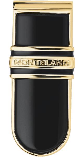 15743 Montblanc Зажим д/денег Onyx Solitaire