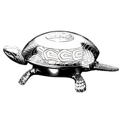 1700CRC ПРЕССПАПЬЕ ЧЕРЕПАХА-ЗВОНОК (ХРОМ)