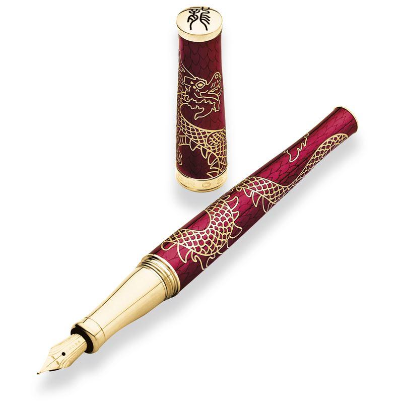 Перьевая ручка Cross Sauvage Dragon Year 2012 (Special Edition), цвет: Red, перо: M, 18K >