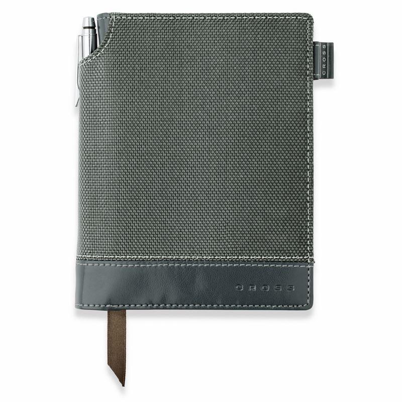 Записная книжка Cross Textured Journal, A6, серая, текстурированная,  c ручкой 3/4, 250 страниц в линейку, SS2012