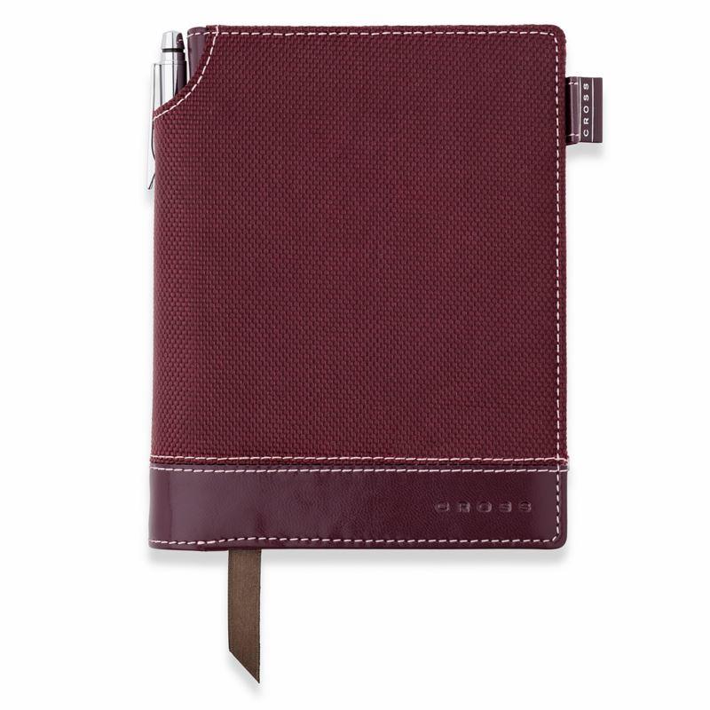 Записная книжка Cross Textured Journal, A6, бордовая, текстурированная,  c ручкой 3/4, 250 страниц в линейку, SS2012