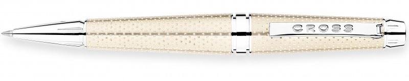Шариковая ручка / роллер Cross C-Series, цвет: perforated Metallic Champagne >