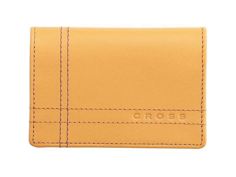 Кожаный футляр Cross Legacy Leather для визитных карточек, тип кожи: гладко-текстурированная, цвет: песочный >