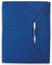 Кожаная папка Cross  Limited Edition (Ручка и блокнот в комплекте), тип кожи: перфорированная, цвет: синий; 24.5х32.1 см >