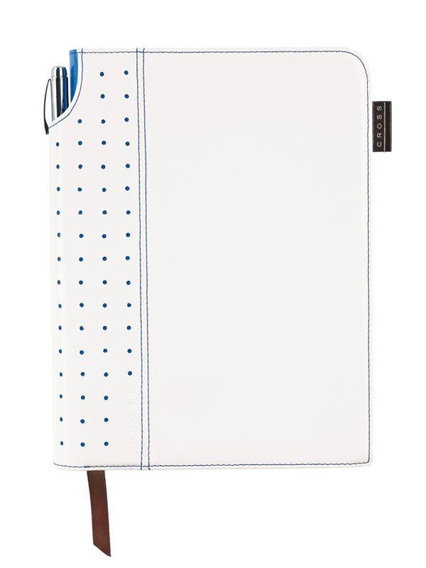 Записная книжка Cross Signature Journal, A5, белая, c ручкой 3/4,   250 страниц в линейку, 2010