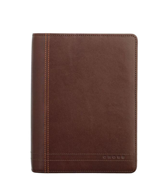 Кожаный органайзер Cross Legacy Leather  Personal (Ручка и блок еженедельник в комплекте), тип кожи: гладко-текстурированная, цвет: коричн. >