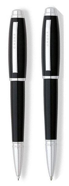 Набор Cross Dubai: шариковая ручка и механический карандаш 0.7 мм, цвет: Black