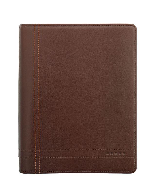 Кожаный органайзер Cross  Legacy Medium (Ручка и блок еженедельник в комплекте), тип кожи: гладко-текстурированная, цвет: коричневый; 19х24см >