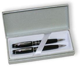 Набор Cross Windsor: шариковая ручка и механический карандаш 0.7 мм, цвет: Black Lacquer