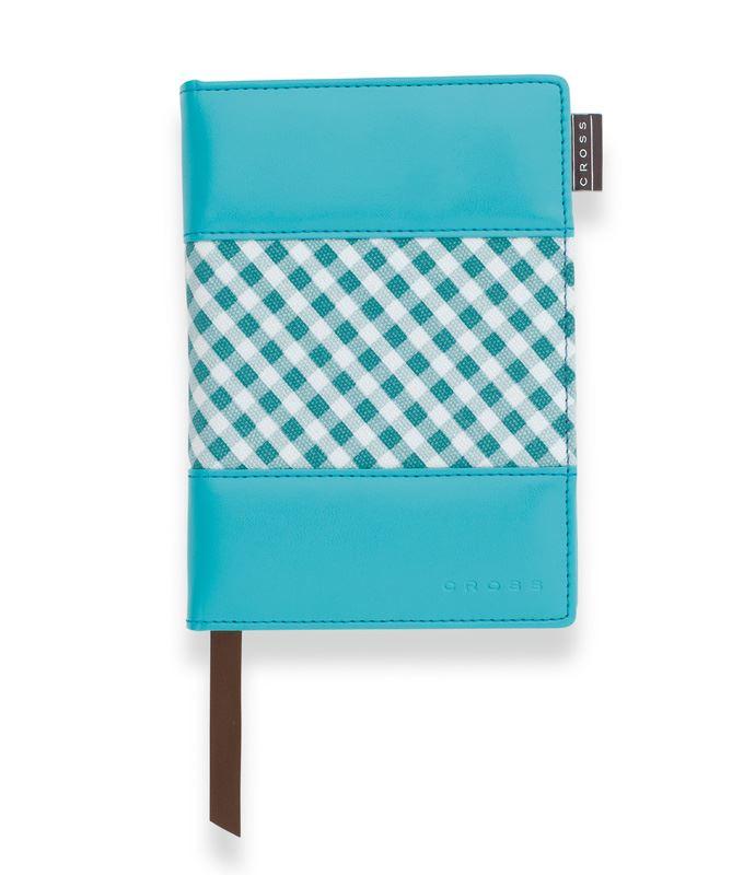 Записная книжка Cross Gingham Journal, A6, голубая, c ручкой 3/4, 250 страниц в линейку, 2011 >
