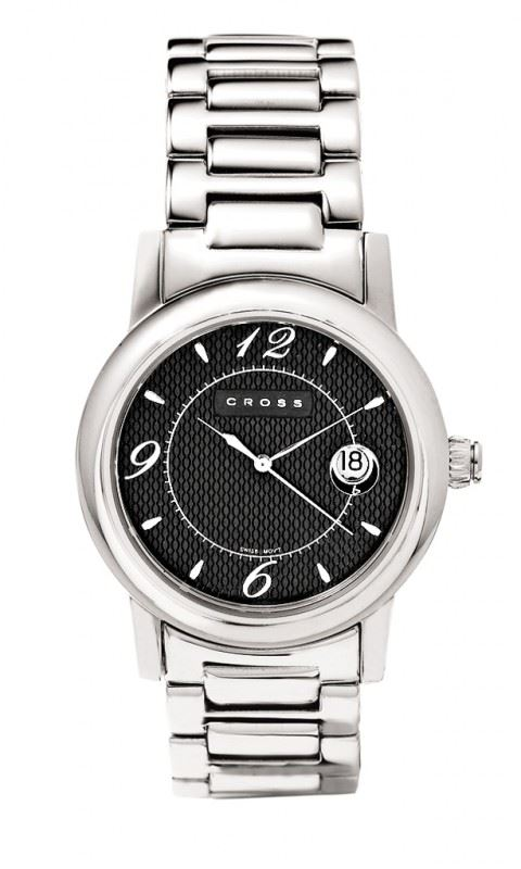 Часы Cross Chicago мужские, корпус: нержавеющая сталь, браслет: нержавеющая сталь