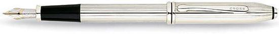 Перьевая ручка Cross Townsend, цвет: Серебристый, перо: золото 18К >