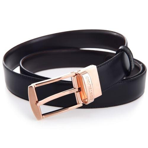 105122 Двусторонний черный/коричневый кожаный ремень Montblanc