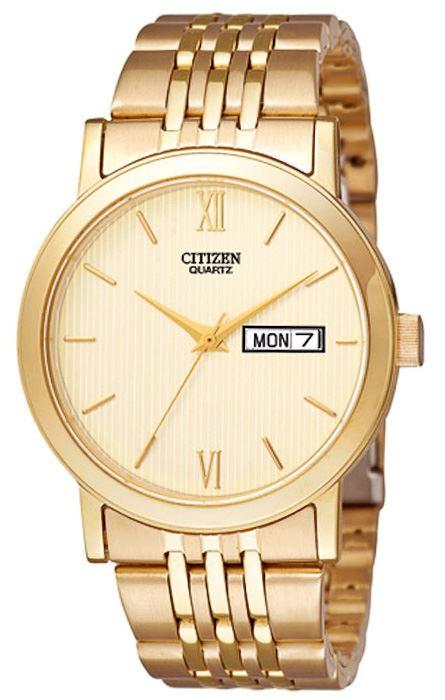 Мужские кварцевые наручные японские часы Citizen  BK4053-56CE