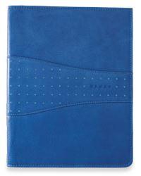 Кожаная папка Cross Junior  Limited Edition (Ручка и блокнот в комплекте), тип кожи: перфорированная, цвет: синий; 18.7х24.2 см >