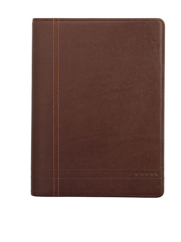 Кожаная папка Cross Legacy Leather Junior (Ручка и блокнот в комплекте), тип кожи: гладко-текстурированная, цвет: коричневый; 18*24cm >