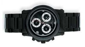 Часы-хронограф Cross Milan, корпус: нержавеющая сталь, браслет: сталь(черный цвет) , черный  циферблат