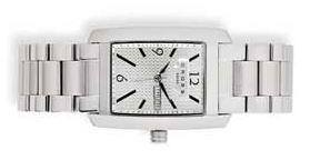 Часы Manhattan мужские, корпус: нержавеющая сталь, браслет: сталь, белый циферблат с серебряной гравировкой