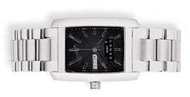 Часы Manhattan мужские, корпус: нержавеющая сталь, браслет: сталь, черный циферблат
