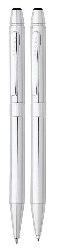Набор Cross Gilford: шариковая ручка и механический карандаш 0.7 мм, цвет: Chrome