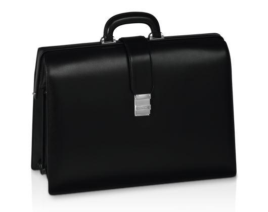 105925 Портфель Montblanc Meisterstuck Gusset черный на 2 отделения.