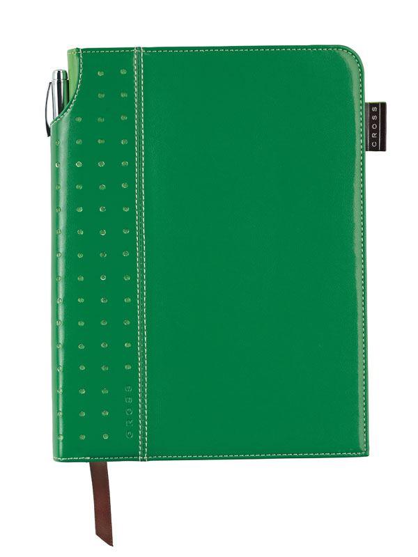 Записная книжка Cross Signature Journal, A5, зеленая, c ручкой 3/4,   250 страниц в линейку, 2010