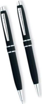 Набор Cross Stratford: шариковая ручка и механический карандаш 0.5 мм, цвет: Satin Black (Только B-to-B и маг-нов кат-и
