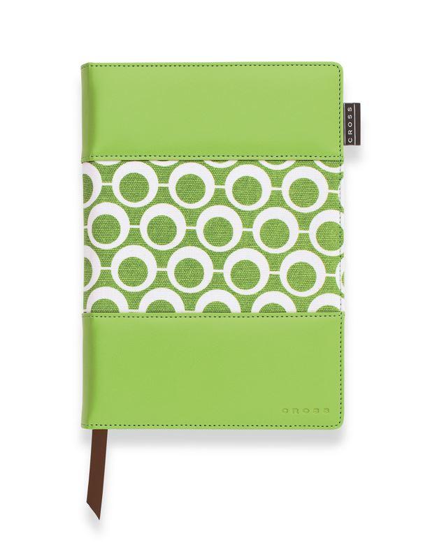Записная книжка Cross Mod Journal, A5, зеленая, c ручкой 3/4, 250 страниц в линейку, 2011 >