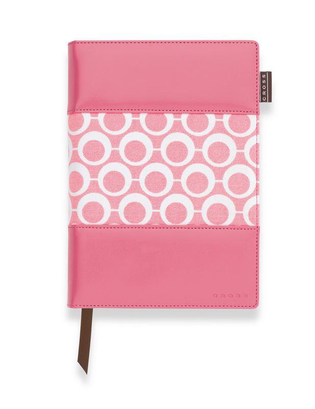 Записная книжка Cross Mod Journal, A5, розовая, c ручкой 3/4, 250 страниц в линейку, 2011 >