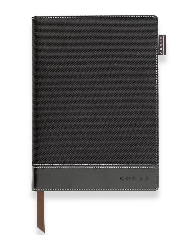 Записная книжка Cross Textured Journal, A6, черная, текстурированная,  c ручкой 3/4, 250 страниц в линейку, 2011
