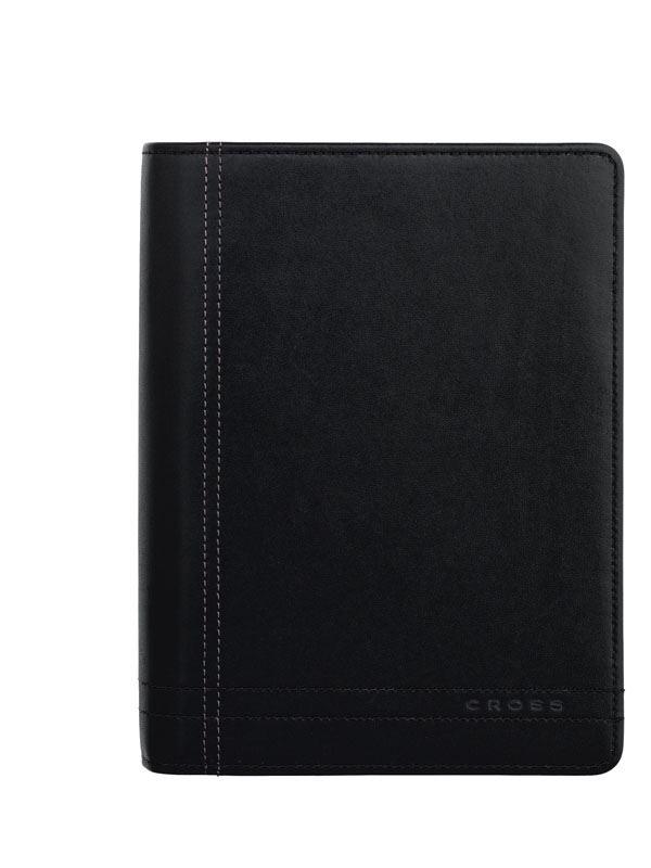 Кожаный органайзер Cross Legacy Leather  Personal (Ручка и блок еженедельник в комплекте), тип кожи: гладко-текстурированная, цвет: черный >