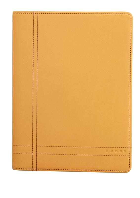 Кожаная папка Cross Junior Legacy (Ручка и блокнот в комплекте), тип кожи:гладко-текстурированная, цвет: песочный; 18*24cm >