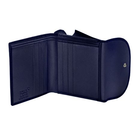106797 Montblanc Бумажник Boh 6 к/к отд.д/мелочи т-синий