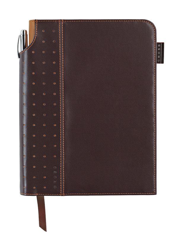 Записная книжка Cross Signature Journal, A5, коричневая, c ручкой 3/4,   250 страниц в линейку, 2010