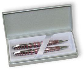 Набор Cross Sydney: шариковая ручка и механический карандаш 0.7 мм, цвет: Pink/Chrome Stripe