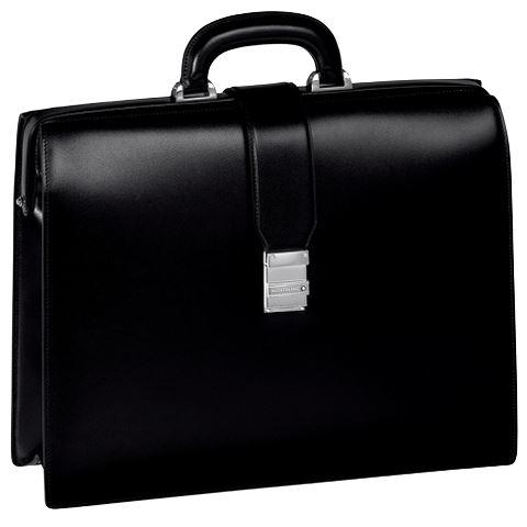 105923 Портфель Montblanc Meisterstuck Gusset черный на 1 отделение.