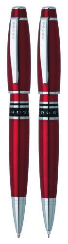 Набор Cross Windsor: шариковая ручка и механический карандаш 0.7 мм, цвет: Red  Lacquer