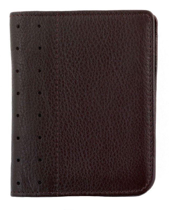 Кожаный футляр Cross для визитных и кредитных карточек со спец отделением для пропуска,  мужской, ручка Mini Telescope в комплекте, цвет: коричневый