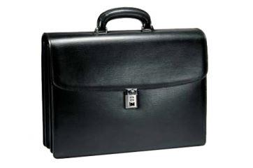 Портфель с 3 отделениями Aurora Torino, черный