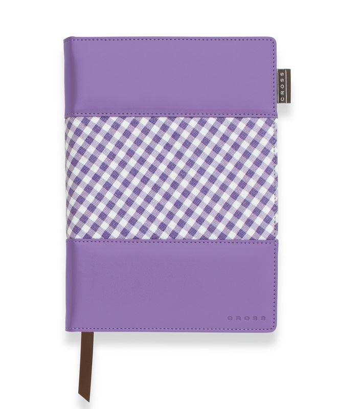 Записная книжка Cross Gingham Journal, A5, фиолетовая, c ручкой 3/4, 250 страниц в линейку, 2011 >