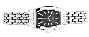 Часы Manhattan женские, корпус: нержавеющая сталь, браслет: сталь, черный циферблат