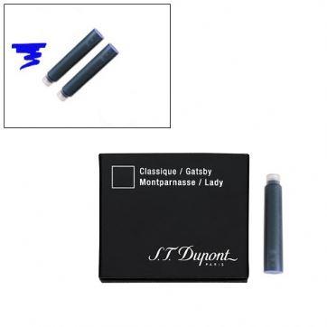 40102 Картриджи Дюпон для перьевой ручки синий цвет