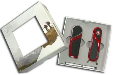 WS18.10.85 Подарочный набор WENGER (Венгер): зажигалка+ножик