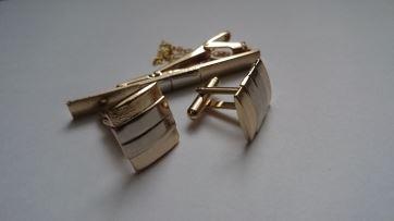 zap-04 Набор: запонки + зажим для галстука