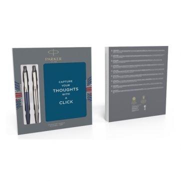 2062782 Подарочный набор Parker: 2 шариковые ручки+блокнот