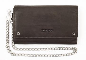 2005129 Кожаный бумажник байкера ZIPPO