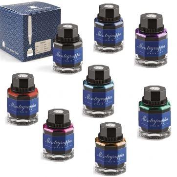 IA08BZIM Набор цветных чернил Montegrappa (Монтеграппа). 8 цветов.