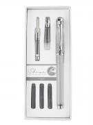 Набор I-SHARE: ручка - роллер + сменная насадка с пером + конвертер + чернила PIERRE CARDIN