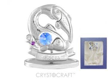 U0268-001-CBLB Сувенир Crystocraft, (РЫБЫ)
